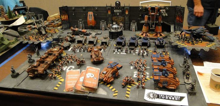 A Forge World in Miniature- Epic Adepticon Display - Spikey Bits