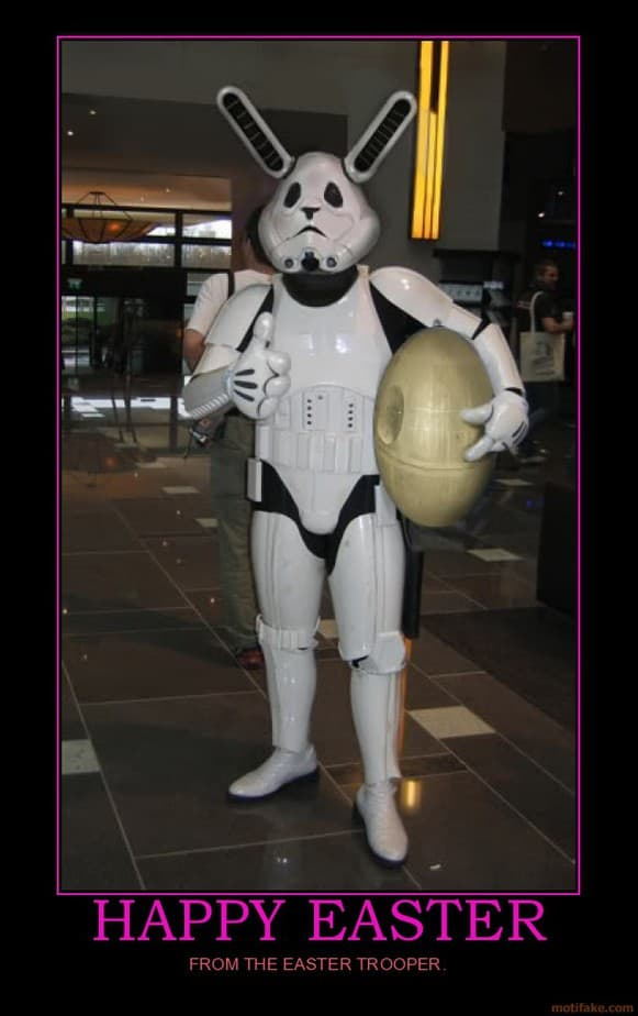 Happy Easter From The Easter Trooper Spikey Bits