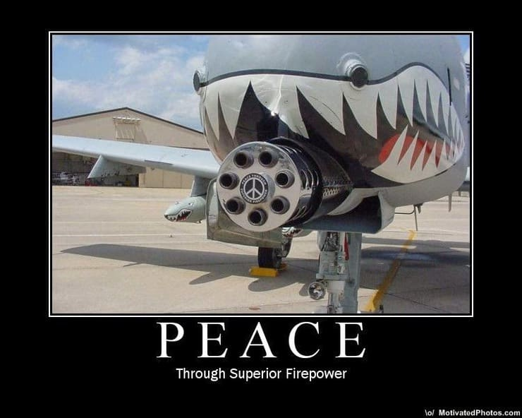 Air Force A10 Peace