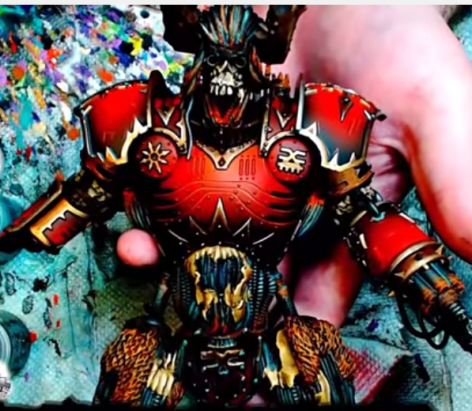 Airbrushing Tutorial   Chaos Knight Titan   Part 2   YouTube3