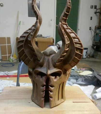 dark eldar cosplay helmet finished