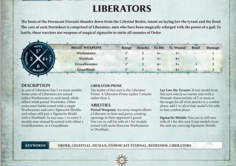 liberators age of sigmar rules