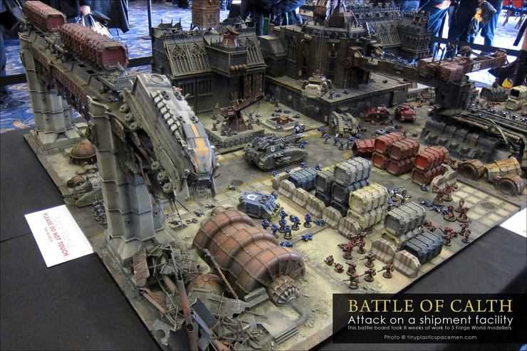 Vivid new pics of the battle for calth 40k studio table for Decor 40k