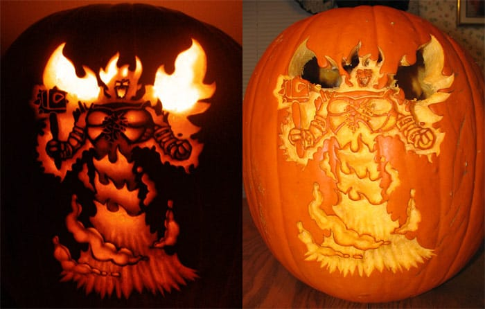 By The Great Pumpkin Of Chaos Happy Halloween Spikey Bits