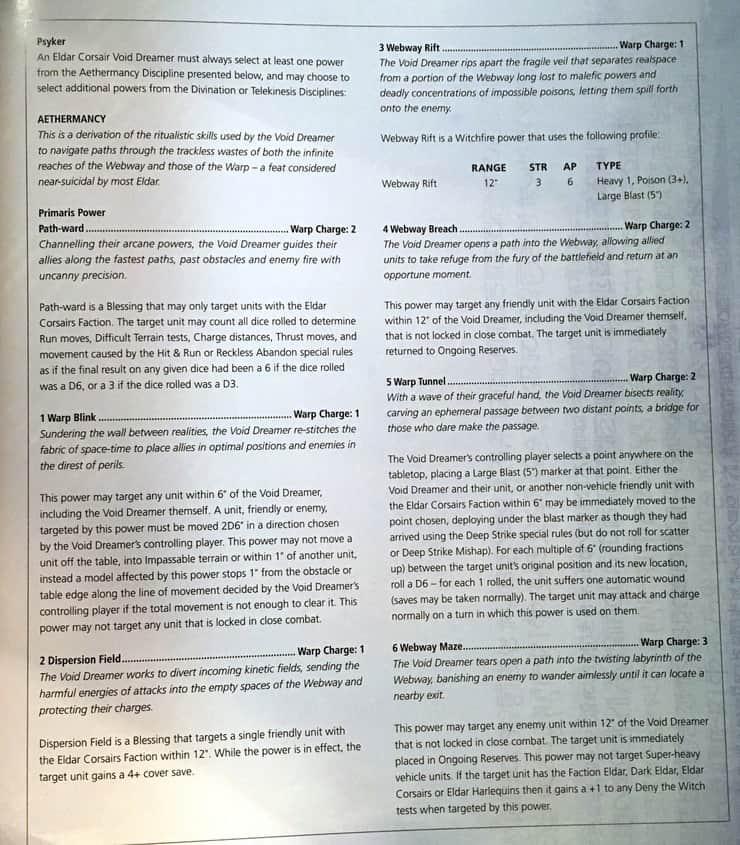 ELDAR CORSAIRS RULES PDF