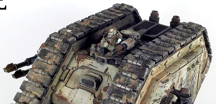 Rust Is A Battlefield Weathered Deathguard Land Raider