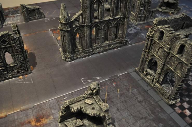 NEW TERRAIN - Gothic Ruins Set by Gamemat.eu
