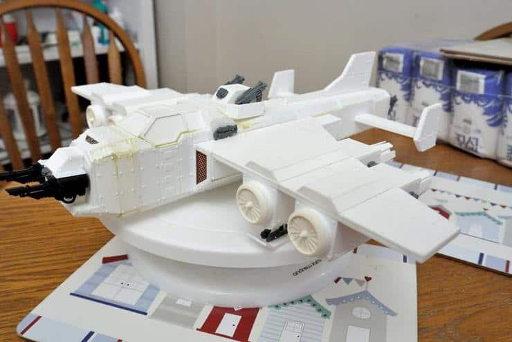 Scratch built Imperial Navy Marauder Bomber