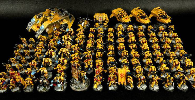 Bigger than a chapter huge imperial fists army spikey bits - Imperial fists 40k ...