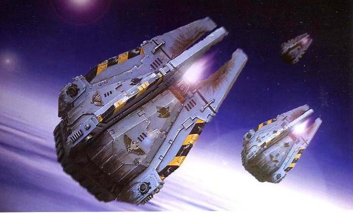 space marine drop pod fenris wolves