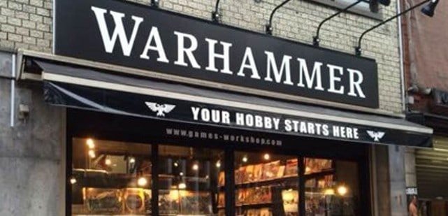gw wallpaper warhammer store front Games Workshop pre-order