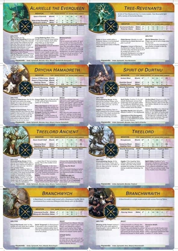 FREE Slyvaneth Battletome Warcards Download! - Spikey Bits