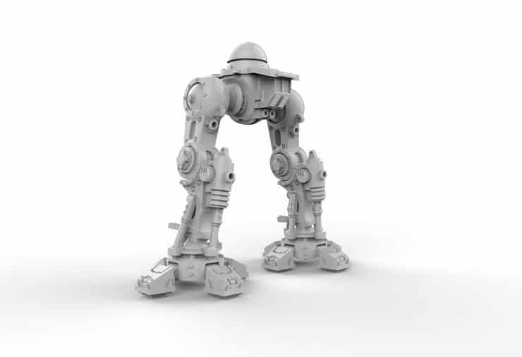 Knight titan posable legs