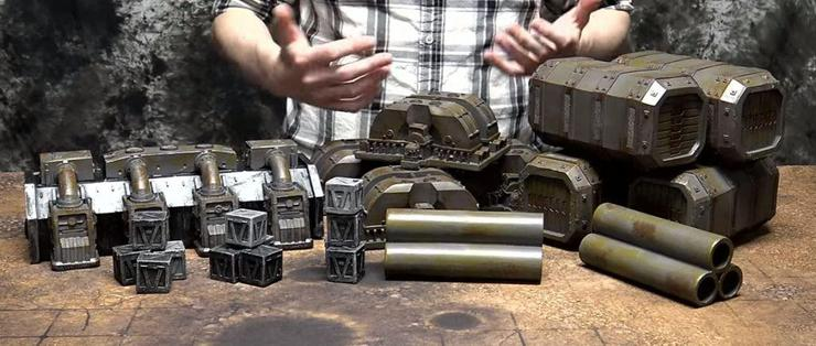 gamemat.eu pre-painted terrain set industrial