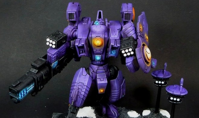 The Purple Riptide - Tau Army of One - Spikey Bits