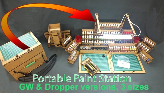 war mage games portable paint station