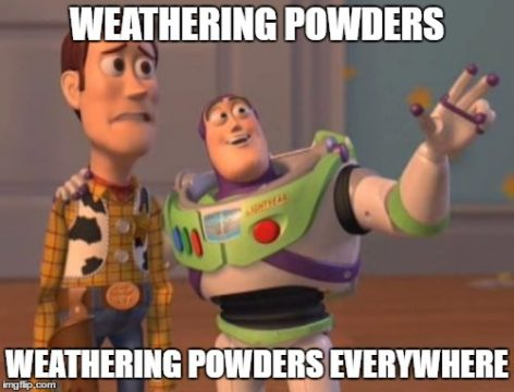 weathering-powders