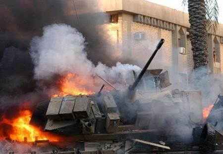 tank-on-fire