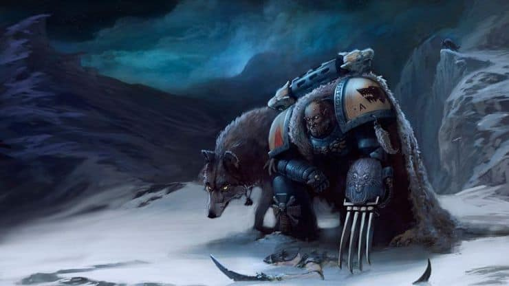 Space Wolves Snow Wal Hor