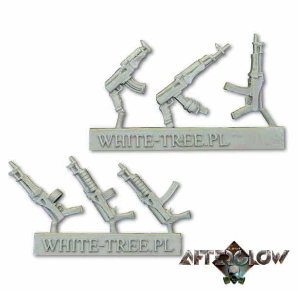 assault rifles white tree