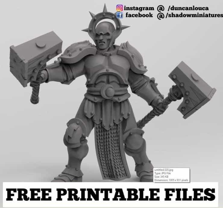 photo regarding Free Printable Minis identified as Down load Absolutely free Printable 3D Miniatures For Your Tabletop