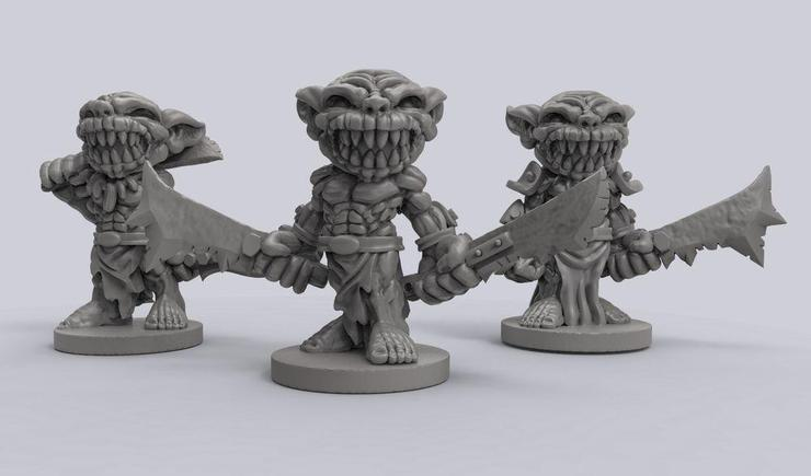 photograph relating to Free Printable Minis identified as Down load Absolutely free Printable 3D Miniatures For Your Tabletop