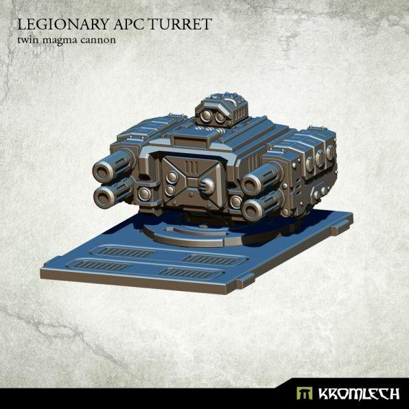 Legionary APC turret: Twin Magma Cannon
