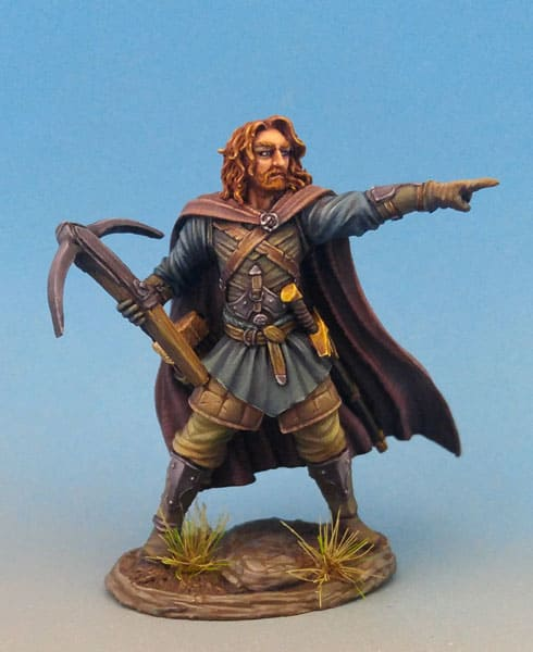 MALE WARRIOR WITH CROSSBOW dark sword
