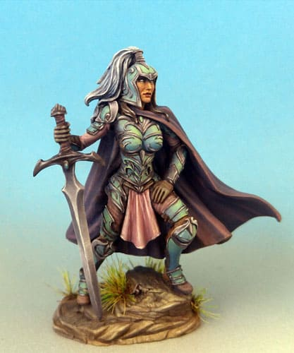 FEMALE WARRIOR WITH TWO HANDED SWORD dark sword