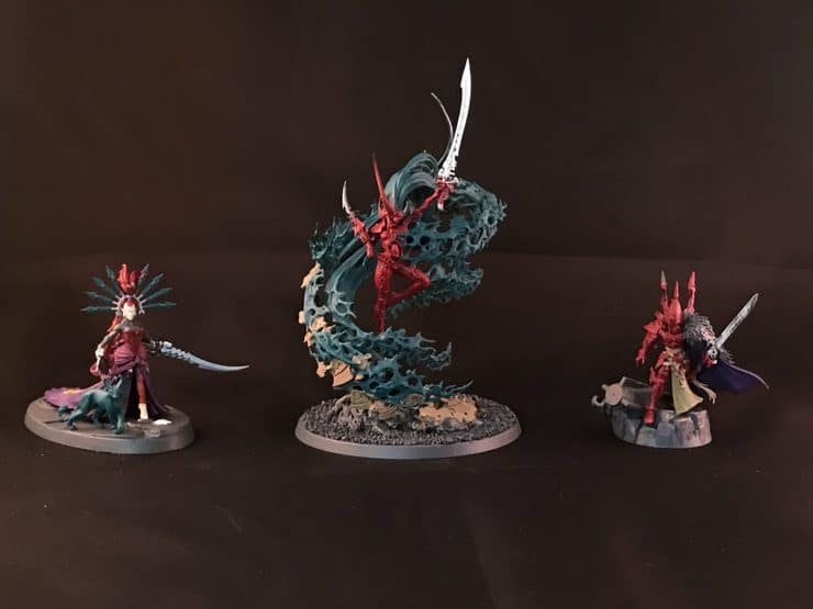 Color Blocking Eldar Triumvirate