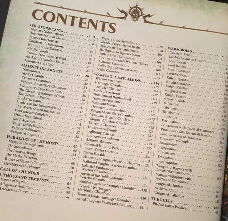 Stormcast Contents