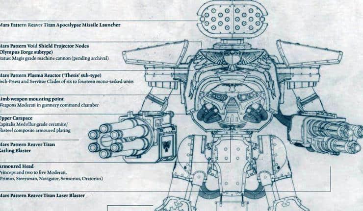 reaver schematic titanicus