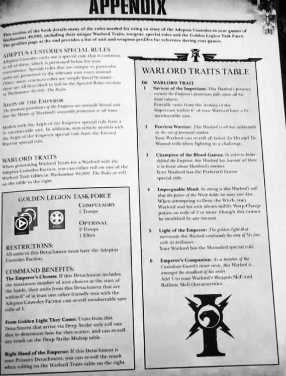 New Codex Rules SPOTTED for Adeptus Custodes! - Spikey Bits