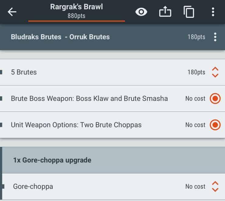 Battlescribe list
