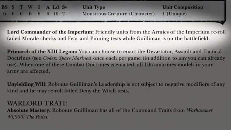 Guilliman Rules