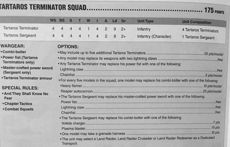 Taratos Terminator Squad