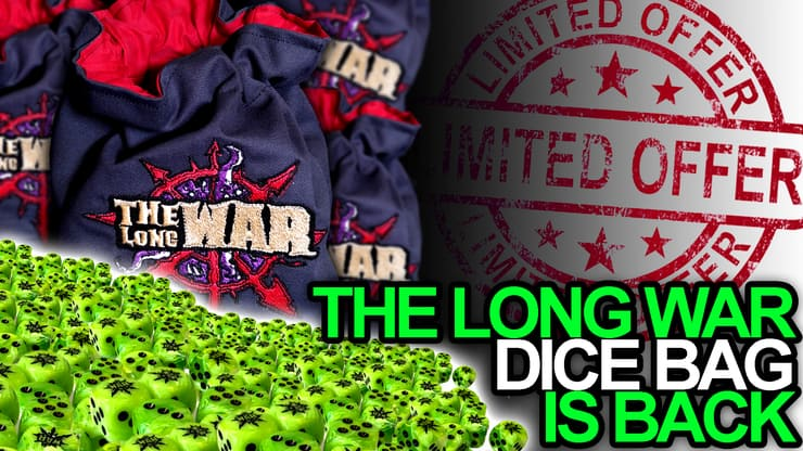 Dice Promo Bag green Long War