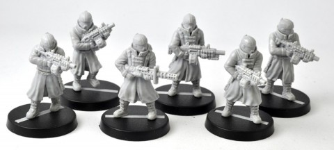 anvil industry has some greatcoats miniatures for the guard spikey