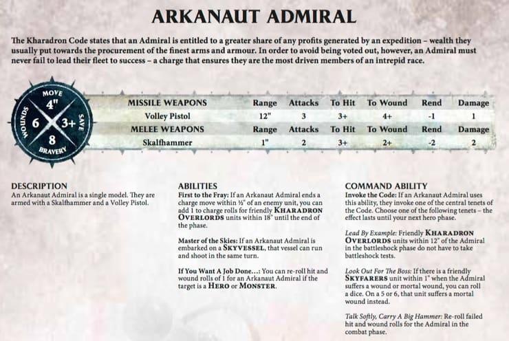 Kaharadron Overlords Arkanaut Admiral