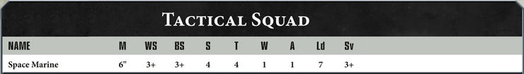 New 40k Profiles Tactical Sqd