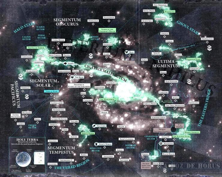 New Warhammer 40k Galaxy Map Looks Even Better In Color Spikey Bits
