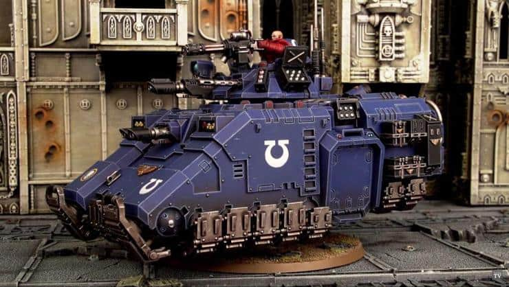 Image result for space marine repulsor tanks