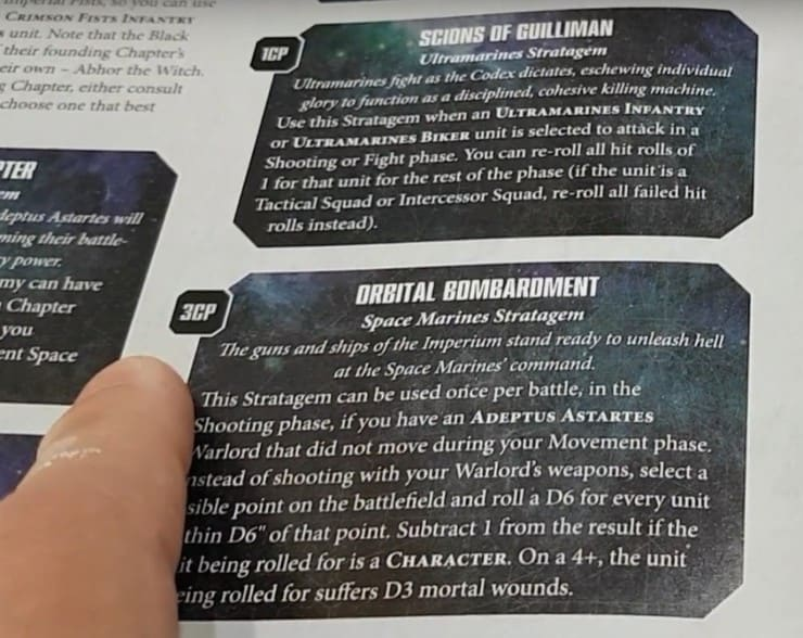 Codex Space Marines Stratagems Spotted! - Spikey Bits
