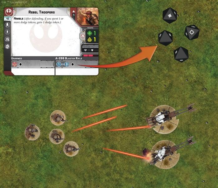 Star Wars Legion combat