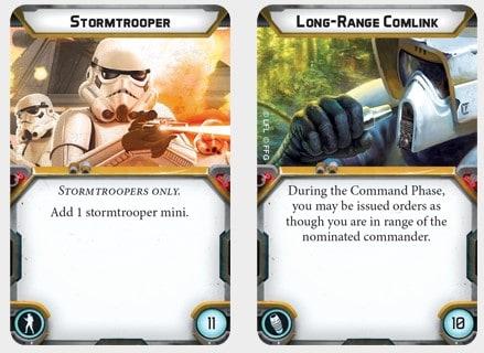 Star Wars Legion upgrade cards