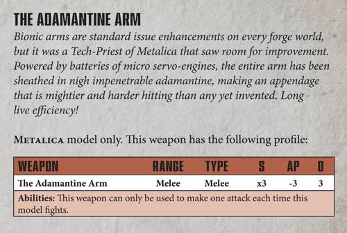 Admech Focus Metalica Adamite Arm