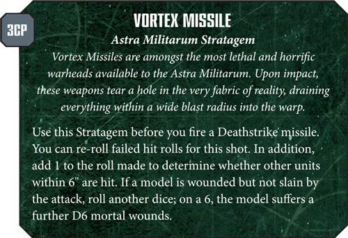 Astra Militarum Vortex Missile