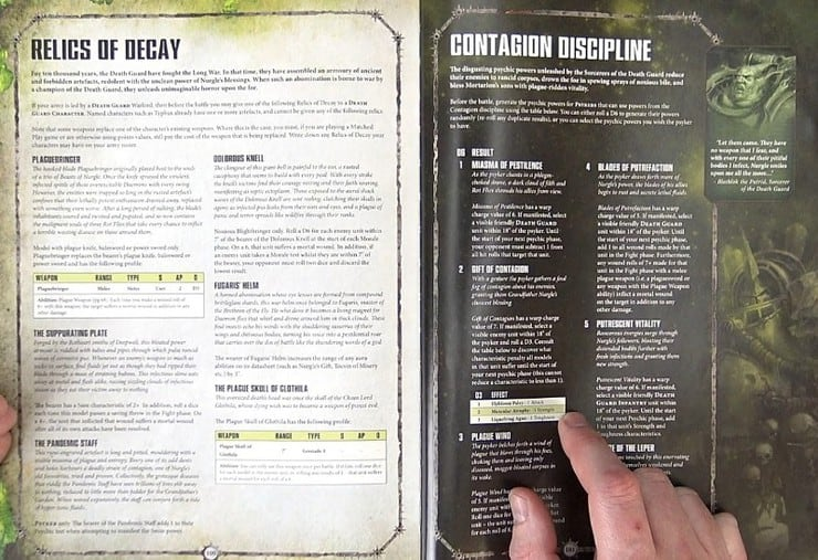 Death Guard Relics and Contagion