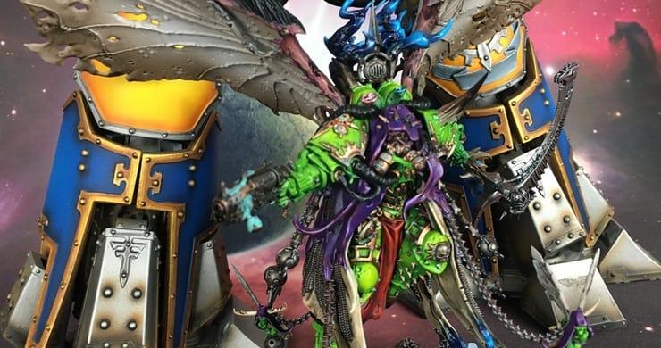 mortarion vs a titan