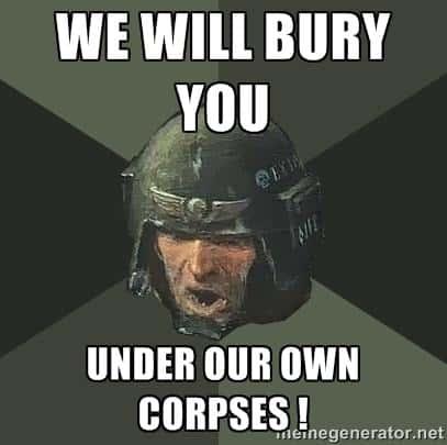 Imperial Guard bury
